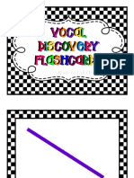 Vocal Discovery Flashcards for Early Elementary Music