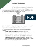 Accumulateurs Piles Et Batteries