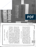 Alfred Schutz Fenomenologia e Relacoes Sociais