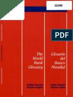 World Bank Glossary