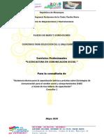 Asistencia técnica para la capacitación teórico y practica sobre  Estrategias de Comunicación para el cambio social y comportamientos (C4D)