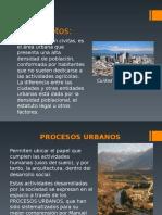 Procesos Urbanos