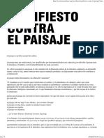 Manifiesto Contra El Paisaje _ Ecosistema Urbano