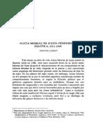 Alicia Moreau de Justo Feminismo y Polit