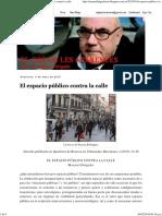 EL COR de LES APARENCES_ El Espacio Público Contra La Calle