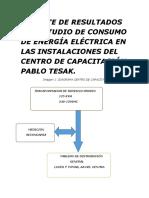 Reporte de Resultados Del Estudio de Consumo de Energía Eléctrica en Las Instalaciones Del Centro de Capacitación Pablo Tesak