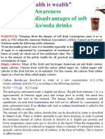Disadvantages of Soft Drinks i.e. Cold Soda Water Drinks