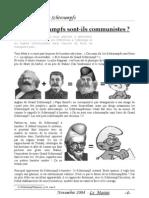 Les Schtroumpfs Sont-ils Communistes