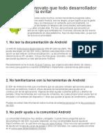 10 Errores de Novato Que Todo Desarrollador Android Debería Evitar – El Baúl Del Programador