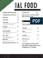 Social Drink & Food Opening Food Menu