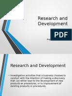 R&D report