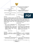 Gov. Regulation No. 7 of 2016 on Indonesia