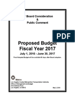 Metro Proposed Budget FY 2016-17