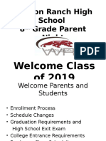 updated 2015 8th grade parent night