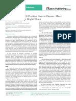 Ck7 Negative, Ck20 Positive Gastric Cancer