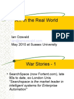 Artificial Intelligence in the Real World May 2010 Sussex University Guest Lecture