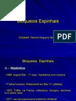 Bloqueios+Espinhais