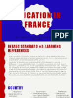 education in france powerpoint