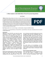 A Meta-Analysis on the Health Risk of Forest-Ecosystem Degradation