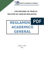 Reglamento de Matrícula de Los Estudiantes Del Programa de Segunda Especialidad en Ciencias Biologicas