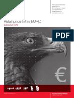 Adams RETAIL Pricelist EUR