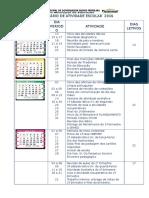 Calendário de Atividade Escolar 2016