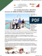 27-04-16 Presenta Maloro Acosta Proyectos y Atractivo Turístico de Bahía de Kino a Estadounidenses