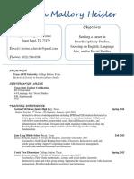 kristen heisler resume