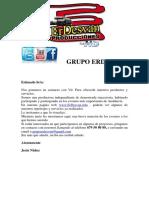 Book ErDesvan Producciones.