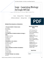 Multiple Choice Questions on Biostatistics _ MCQ Biology - Learning Biology Through MCQs