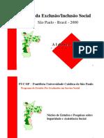 mapa2000 MAPA DA EXCLUSÃO/ INCLUSÃO SOCIAL SÃO PAULO BRASIL 2000 ALDAÍZA SPOSATI