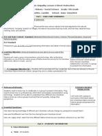 walkingin anothersshoes directinstruction lessonplan - lesson 2 of unit plan