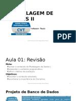 Modelagem de Dados II Introdução