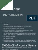 crime scene presentation