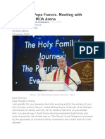 Message of Pope Francis
