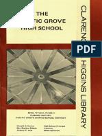 Pacific Grove High School Library Brochure - 1970