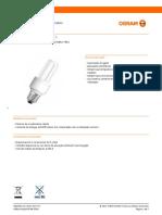 CATÁLOGO - OSRAM - Fluorescente Compacta(Formato Reto)