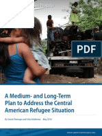A Medium- and Long-Term Plan to Address the Central American Refugee Situation