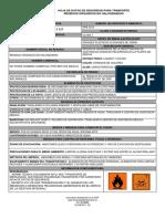 Ficha de Seguridad Residuo Rganico No Halogenado