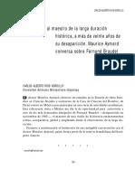 Carlos Ríos Entrevista a Maurice Aymard Sobre Braudel