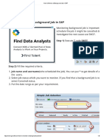How to Monitor a Background Job in SAP