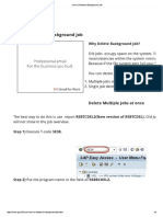 How to Delete a Background Job