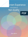 Post Mortem Experience in the Context of Non-duality