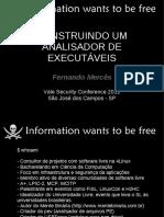 CONSTRUINDO UMANALISADOR DEEXECUTÁVEIS