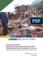 Plan de Acciones Gestion Riesgo de Desastres 2015 2016