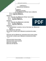 Cap 9 Derivacion Numérica