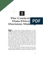dddm contex of data driven decision makingt