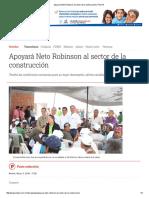 05-04-2016 Apoyará Neto Robinson Al Sector de La Construcción