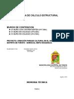 MEMORIA TECNICA DE CALCULO    FINAL 20 08 2013 MURO CONTRAFUERTE.docx