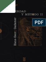 Gadamer Verdad y Método 2 ES